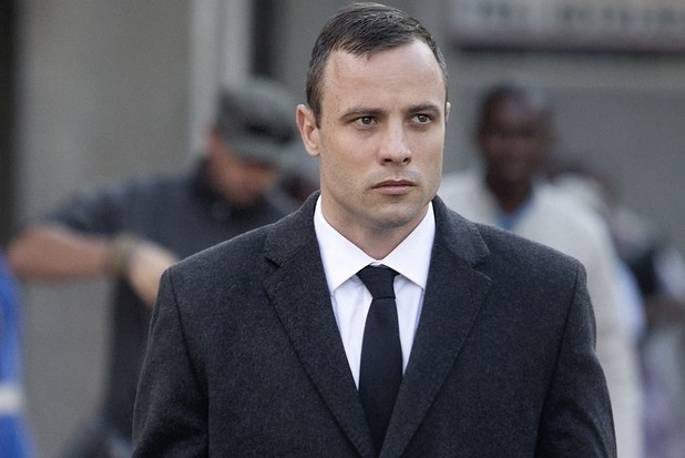 Oscar Pistorius arriving at his trial (07-04-2014)