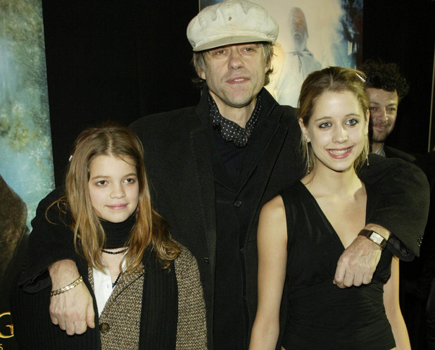 Bob Geldoff and his daughters attend the film premiere party for 'Lord of the Rings-The Two Towers' held at the Equinox club