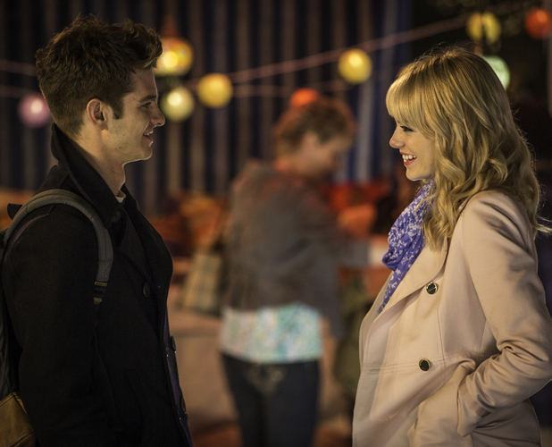 Andrew Garfield and Emma Stone in The Amazing Spider-Man 2