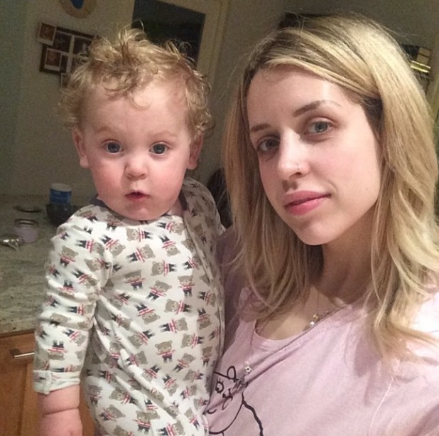 Peaches Geldof with her son Phaedra Bloom Forever