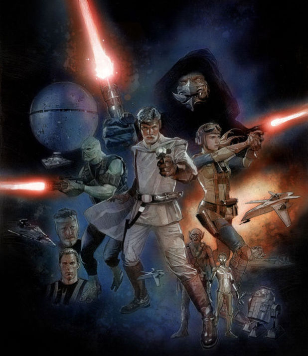Artwork from Dark Horse Comics' 'The Star Wars'