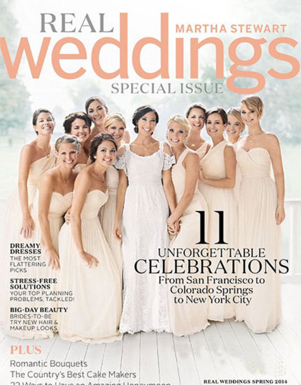 Jennifer Lawrence appears on the cover of Real Weddings