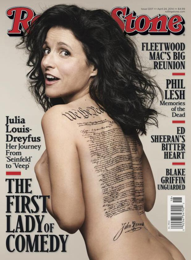 Julia Louis-Dreyfus on the cover of Rolling Stone