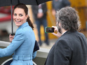 Duchess of Cambridge is filmed by director during visit of his WWI exhibition.