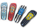 The remotes feature the badges and colours of seven Premier League teams.