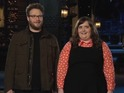 "Aidy Bryant angrily urges Seth Rogen not to ""phone it in"" during promo."