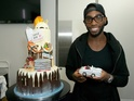 Tinie Tempah might pass out after eating this bespoke giant gateau.
