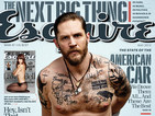 Tom Hardy goes shirtless for Esquire: 'I don't feel very manly'