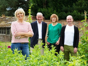 Fern Britton, Jim Buttress, Thane Prince and Jonathan Moseley on The Big Allotment Challenge