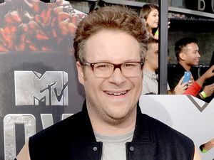 Seth Rogen arrives for the MTV Movie Awards 2014