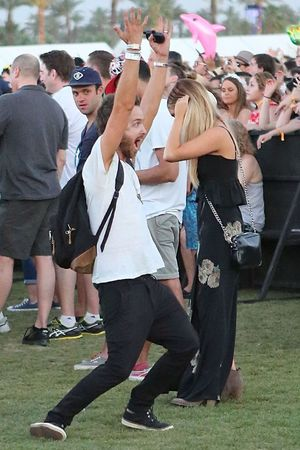 Aaron Paul at Coachella April 13, 2014 in La Quinta, California