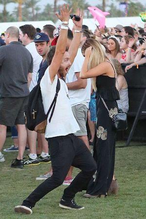 Aaron Paul at Coachella April 13, 2014 in La Quinta, California
