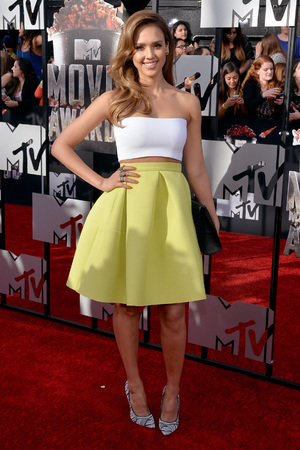 LOS ANGELES, CA - APRIL 13: Actress Jessica Alba attends the 2014 MTV Movie Awards at Nokia Theatre L.A. Live on April 13, 2014 in Los Angeles, California. (Photo by Michael Buckner/Getty Images)