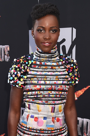 Lupita Nyong'o arrives for the MTV Movie Awards 2014
