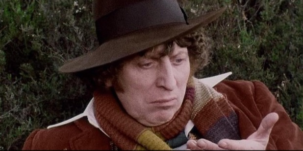 Tom Baker in classic Doctor Who