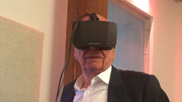 Rupert Murdoch tries out Oculus Rift