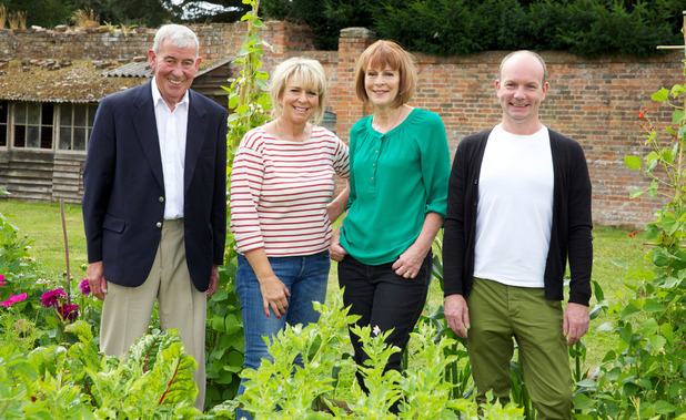 Jim Buttress, Fern Britton, Thane Prince & Jonathan Moseley on The Big Allotment Challenge