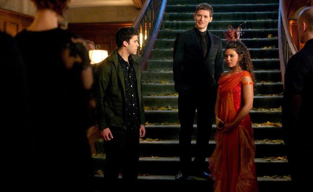 Steven Krueger as Josh, Joseph Morgan as Klaus, and Danielle Campbell as Davina in The Originals S01E18: 'The Big Uneasy'