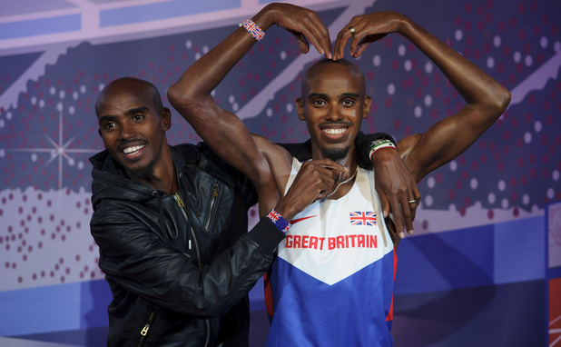 Mo Farah unveils figures for Madame Tussauds attractions in London and Blackpool