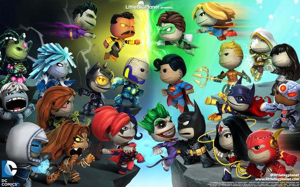 LittleBigPlanet PS Vita DC Comics characters