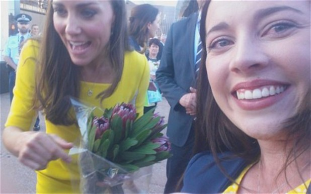 Duchess of Cambridge and fan in Sydney