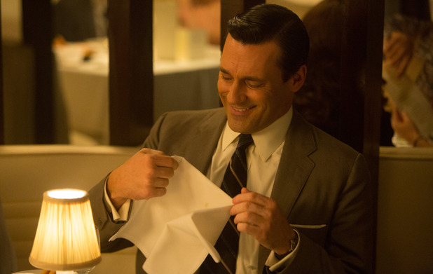 Jon Hamm as Don Draper in Mad Men S07E01: 'Time Zones'