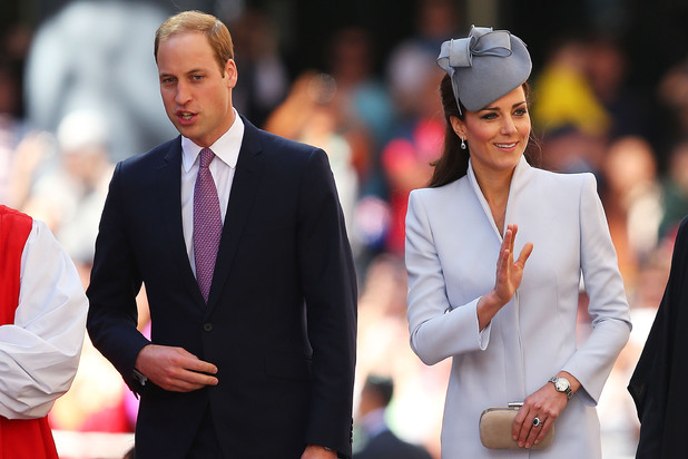 Prince William and Kate arriving at St. Andrew's Cathedral for Easter Sunday Service in Sydney, Australia