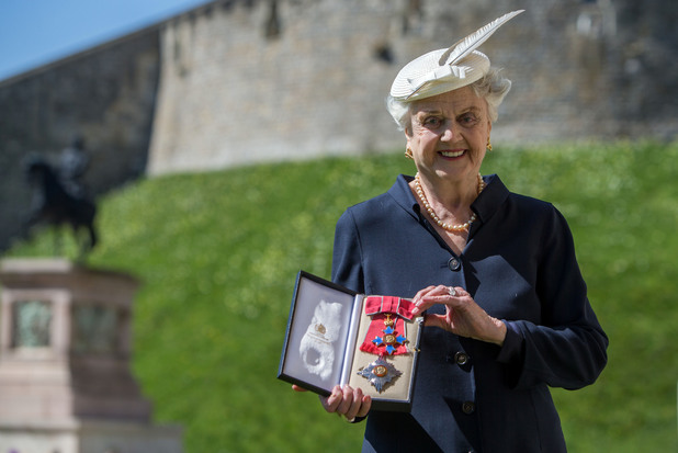 Angela Lansbury is made a Dame Commander by Queen Elizabeth II
