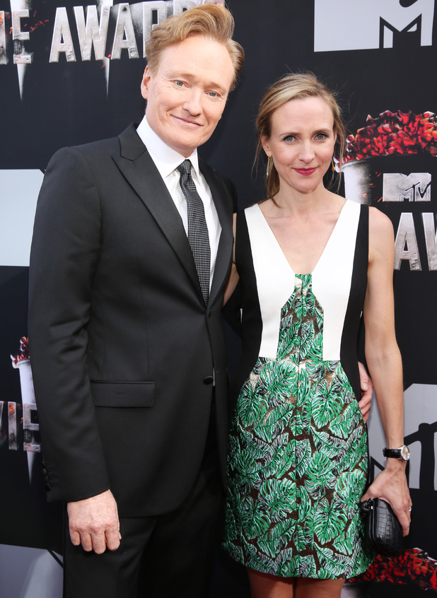 Conan O'Brien and Liza Powel O'Brien