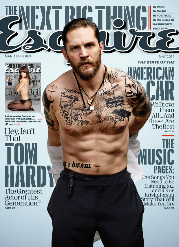 Tom Hardy on the cover of Esquire magazine