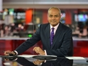 George Alagiah in the BBC News studio