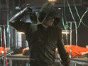 Stephen Amell as The Arrow in 'Arrow' S02E19: 'The Man Under The Hood'