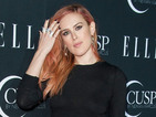Rumer Willis wears daring cut-out skirt at Elle awards