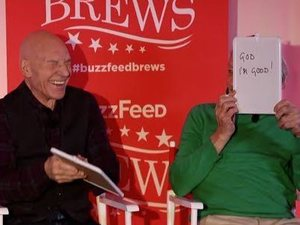 Patrick Stewart and Ian McKellen play the Newlywed Game