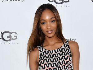 PALM SPRINGS, CA - APRIL 12: Model Jourdan Dunn attends UGG Australia's Style Haven house party, hosted by UGG Australia, to showcase the Spring Summer 2014 Collection, in celebration of the Coachella Valley Music & Arts Festival 2014 at Villa Sereno on April 12, 2014 in Indio, United States. (Photo by Amanda Edwards/Getty Images for UGG Australia)