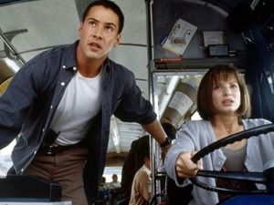 Keanu Reeves and Sandra Bullock in Speed