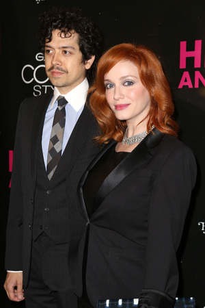 Geoffrey Arend and Christina Hendricks attend the Broadway opening night of 'Hedwig And The Angry Inch' at the Belasco Theatre on April 22, 2014 in New York City. (Photo by Walter McBride/WireImage)