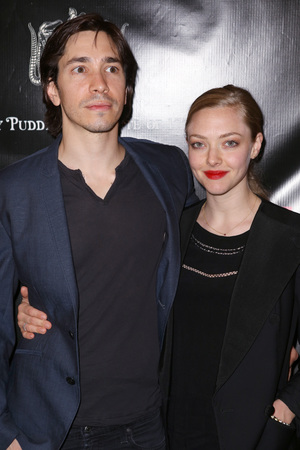 NEW YORK, NY - APRIL 22: Justin Long and Amanda Seyfried attend the Broadway opening night of 'Hedwig And The Angry Inch' at the Belasco Theatre on April 22, 2014 in New York City. (Photo by Walter McBride/WireImage)