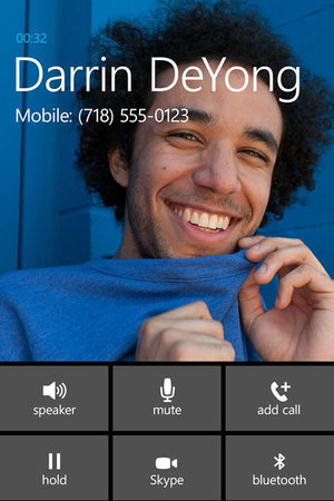 Windows Phone 8.1: Skype call