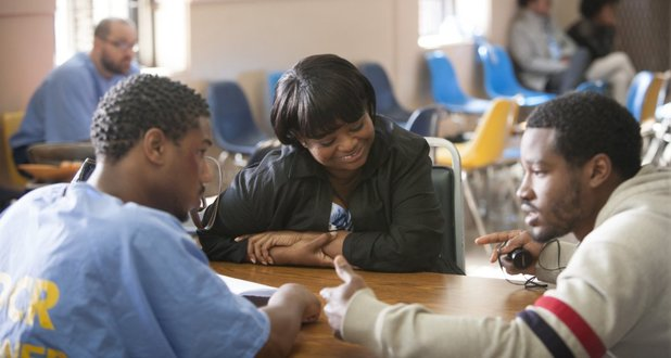 Michael B. Jordan and Octavia Spencer in Fruitvale Station (2013)