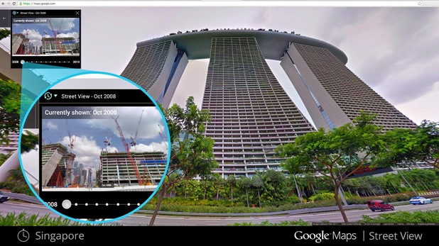 Singapore on Google Maps' Street View past collection