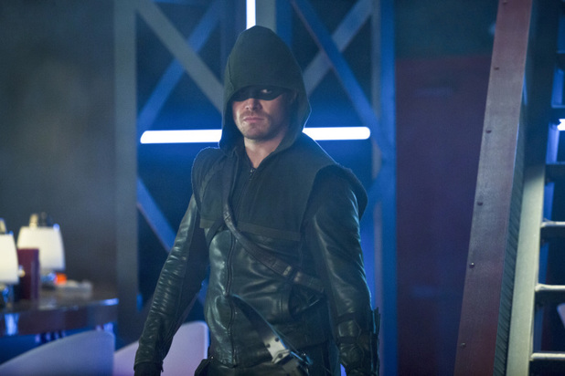 Stephen Amell as The Arrow in 'Arrow' S02E20: 'Seeing Red'