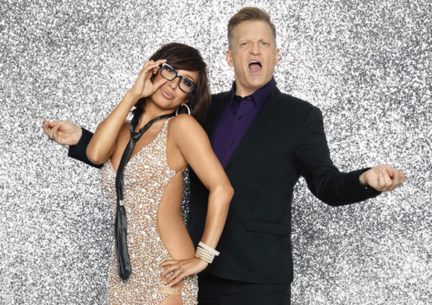 Drew Carey and dancing partner Cheryl Burke