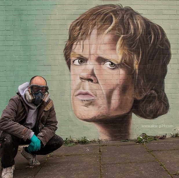 Tyrion Lannister in Game of Thrones graffiti