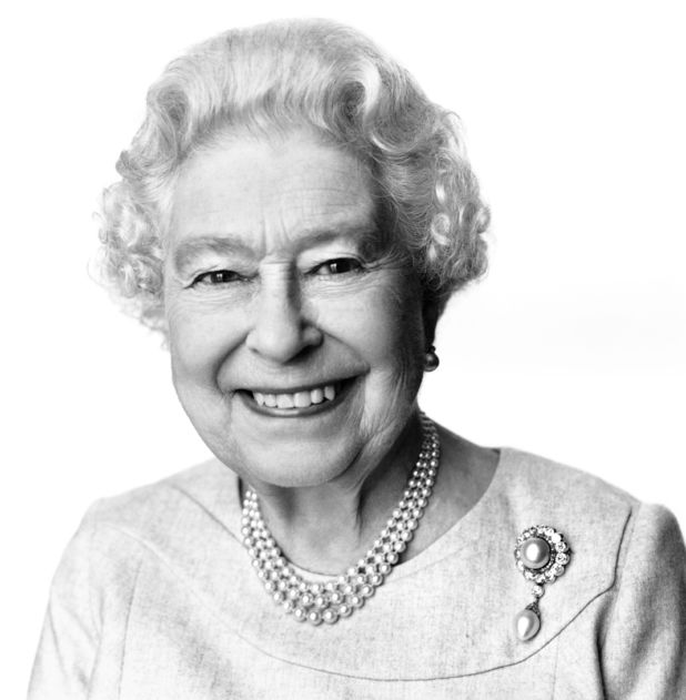 Queen Elizabeth II in a portrait by David Bailey