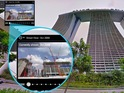 Users can instantly view past Street View panoramic images on desktop.