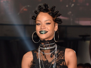 LOS ANGELES, CA - MAY 01: Recording artist Rihanna backstage at the 2014 iHeartRadio Music Awards held at The Shrine Auditorium on May 1, 2014 in Los Angeles, California. iHeartRadio Music Awards are being broadcast live on NBC. (Photo by Jason Merritt/Getty Images for Clear Channel)