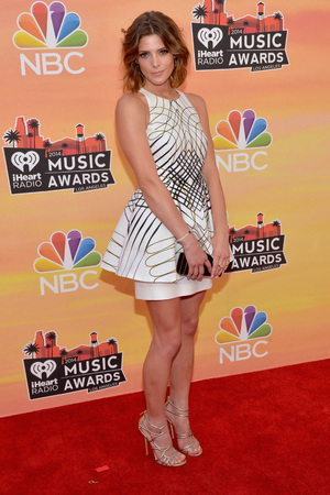 LOS ANGELES, CA - MAY 01: iHEARTRADIO MUSIC AWARDS -- Pictured: Actress Ashley Greene arrives at the iHeartRadio Music Awards held at the Shrine Auditorium on May 1, 2014. (Photo by Michael Buckner/NBC/NBCU Photo Bank)