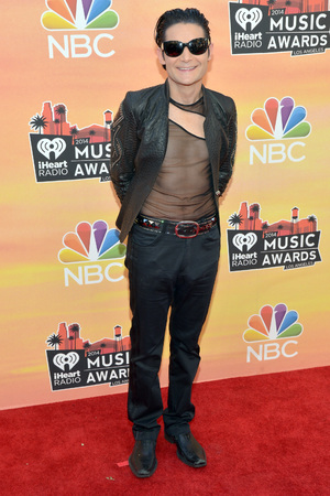 LOS ANGELES, CA - MAY 01: iHEARTRADIO MUSIC AWARDS -- Pictured: Actor Corey Feldman arrives at the iHeartRadio Music Awards held at the Shrine Auditorium on May 1, 2014. (Photo by Michael Buckner/NBC/NBCU Photo Bank)