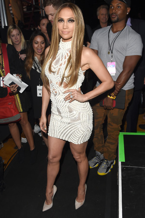 LOS ANGELES, CA - MAY 01: Actress/singer Jennifer Lopez poses backstage at the 2014 iHeartRadio Music Awards held at The Shrine Auditorium on May 1, 2014 in Los Angeles, California. iHeartRadio Music Awards are being broadcast live on NBC. (Photo by Jason Merritt/Getty Images for Clear Channel)